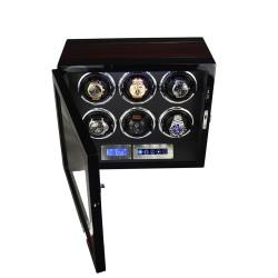 Watch winder för 6 klockor - LCD touch-display och tysta