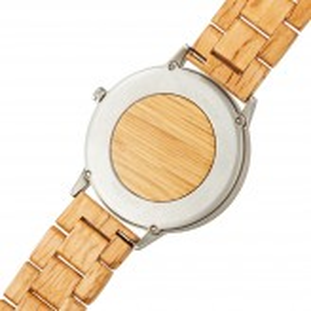 Wine Watch Silver träklocka 42 mm - ekträ från vintunnor