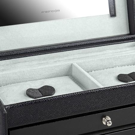 Friedrich smyckeskrin av svart läder