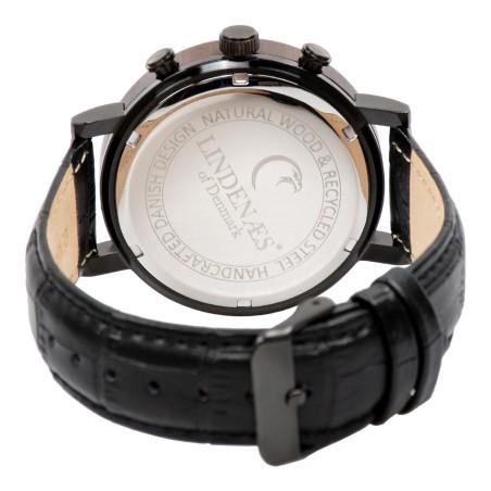 lindenaes trae klocka av hallbart svart sandel trae