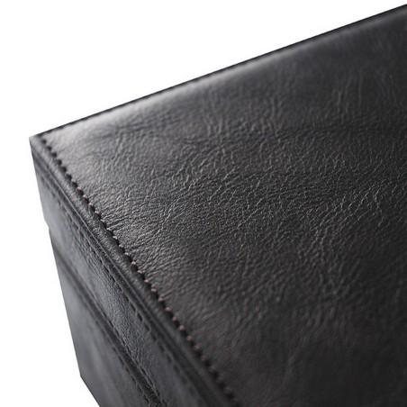 Klockbox i brun läder - förvaring av 10 stora klockor
