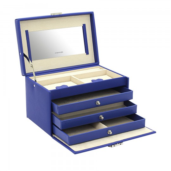 Friedrich smyckeskrin av snygg blå läder