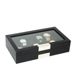 klockbox-klocklada-i-matt-svart-trae-faner-foervaring-av-12-klockor
