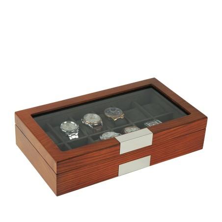 klockbox-klocklada-i-matt-mahogny-trae-faner-foervaring-av-12-klockor