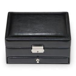 SACHER smyckeskrin klassisk stil av svart läder