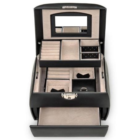 SACHER smyckeskrin Selina i trendy design av svart läder