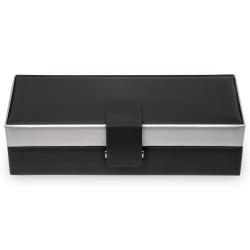 SACHER trendiga klocklåda av svart läder - för 5 klockor