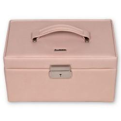 SACHER smyckeskrin av äkta rosa färgat italiensk läder
