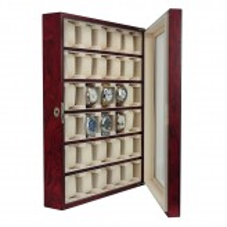 Klockskåp / klockbox för vägg och bord, förvaring av 30 klockor