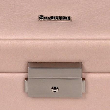 SACHER smyckeskrin Helen i elegant rosa färgad läder