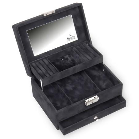 SACHER smyckeskrin Carola i svart med Swarovski kristaller