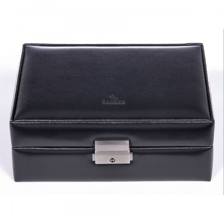 SACHER smyckeskrin Britta av äkta svart läder
