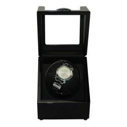 Watch winder / klockuppdragare i svart trä för 1 klocka