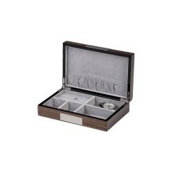 Smyckeskrin i askaträ för smycken, manschettknappar, ringar