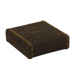 Smyckeskrin av äkta läder - rustik förvaring av manschettknappar och smycken