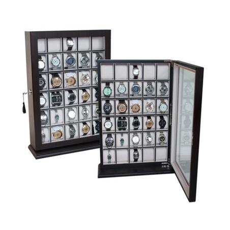 Klockskåp / klockbox för vägg, förvaring av 30 stora klockor