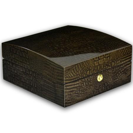 Klocklåda / klockbox för 6 klockor - glansig trä