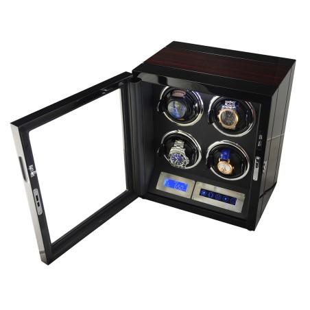 Watch winder för 4 klockor - LCD touch-display och tysta